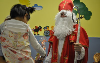 Nicholas was giving gifts to the Children's centre in Znojmo